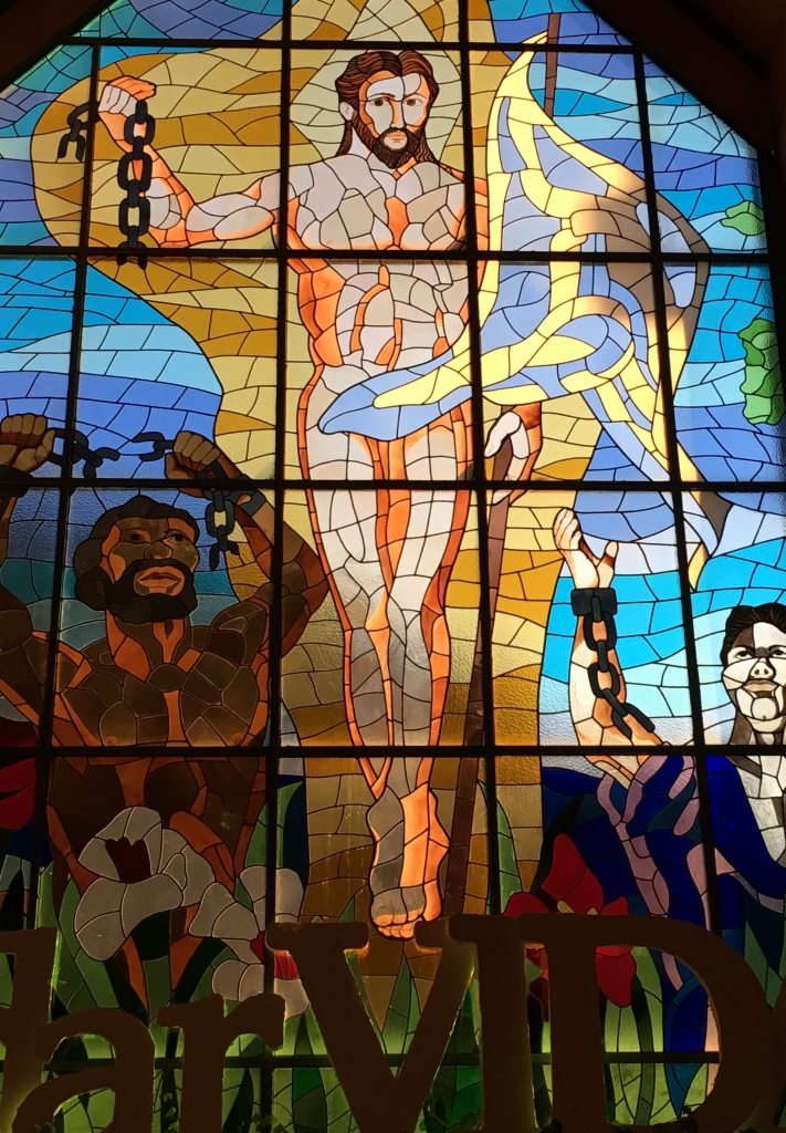Vidriera Cristo Resucitado